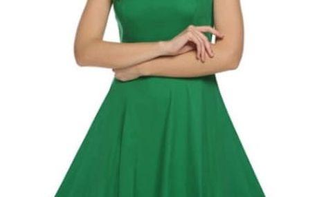 Letní šaty ve swingovém stylu - zelené 3 - č. velikosti 3 - dodání do 2 dnů