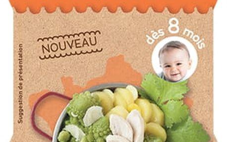 2x BABYBIO Příkrm Romanesco s farmářským kuřetem a parmezánem 200 g - maso-zeleninový příkrm