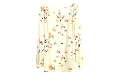 Dámské volné tričko s barevnými ptáčky - velikost 5