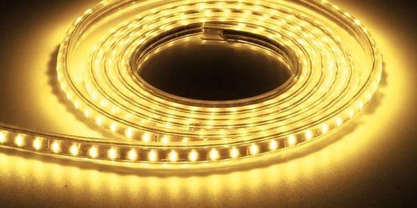 LED lano - 3 m voděodolné, žlutá barva