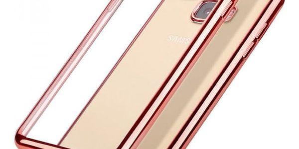 Transparentní pouzdro s barevným lemem pro Samsung Galaxy - růžová, j5 prime