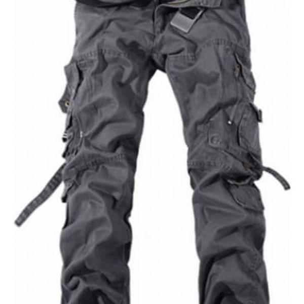 Pánské kalhoty s kapsami - šedá, vel. 4 - dodání do 2 dnů