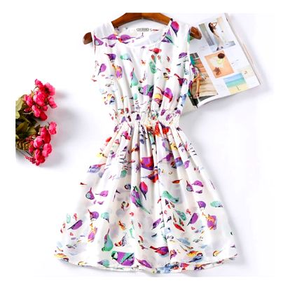 Rozmanité letní šaty - Vzor: 4 - Velikost: 2 - dodání do 2 dnů