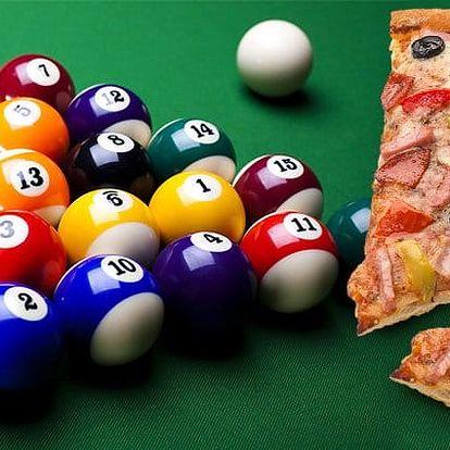Dvě hodiny kulečníku a dvě pizzy Gladiátor v Billiard clubu BIO Systém Plzeň