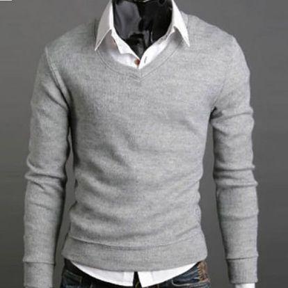 Pánský svetr - šedá, M