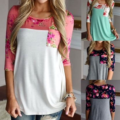Dámské tričko s květinami Amanda