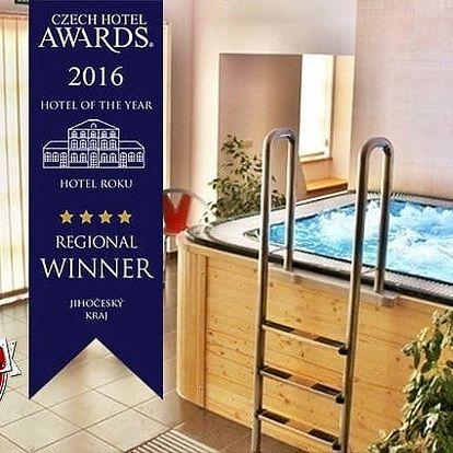 3denní luxusní wellness pobyt s polopenzí pro 2 v hotelu Gold Chotoviny**** u Tábora