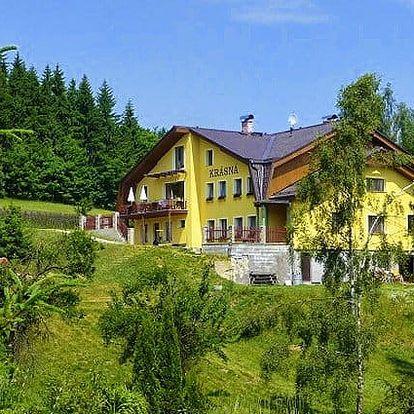 3, 5 nebo 6denní pobyt pro 2 nebo celou rodinu v penzionu Krásná v Jizerských horách