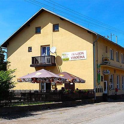3–6denní wellness pobyt pro 2 s polopenzí v penzionu Vysočina na Vysočině