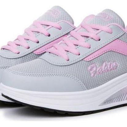 Dámská sportovní obuv s vyšší podrážkou - světle růžová, vel. 35 - dodání do 2 dnů