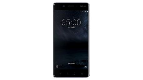 Smartphone Nokia 5, dual SIM, stříbrná 11ND1S01A13