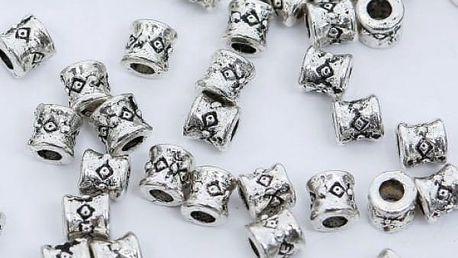 Kovové korálky pro výrobu šperků 100 ks - více variant