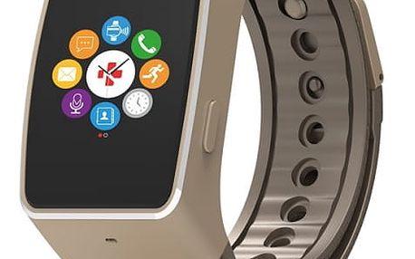 Chytré hodinky MyKronoz ZeWatch4 (NEHOKRWAT4051) hnědé/zlaté