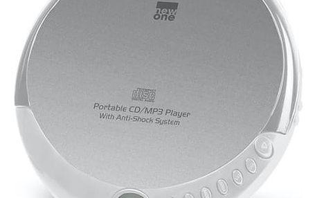 Discman NEW ONE D900 stříbrný