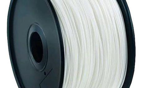 Gembird tisková struna (filament), ABS, 1,75mm, 1kg, bílá - 3DP-ABS1.75-01-W