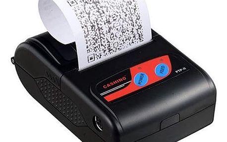 XPRINTER Cashino přenosná termotiskárna PTP-II, rychlost 50-80mm/s, až 58mm, USB, Bluetooth, výdrž baterie až 8hodin