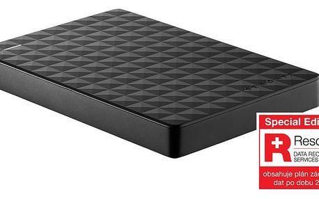 Seagate Expansion Portable - 1TB, černá, Rescue plan - STEA1000200