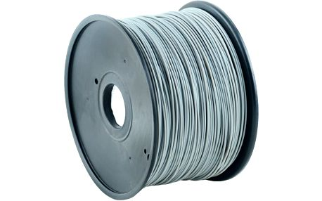 Gembird tisková struna (filament), PLA, 1,75mm, 1kg, šedá - 3DP-PLA1.75-01-GR