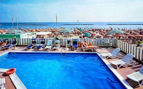 8denní pobyt se snídaní pro 1 osobu v hotelu Astoria*** v italském letovisku Pesaro
