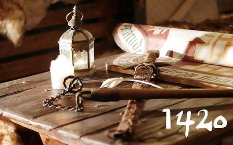 60minutová úniková hra 1420 na téma první křížové výpravy pro 2–4 hráče v Praze
