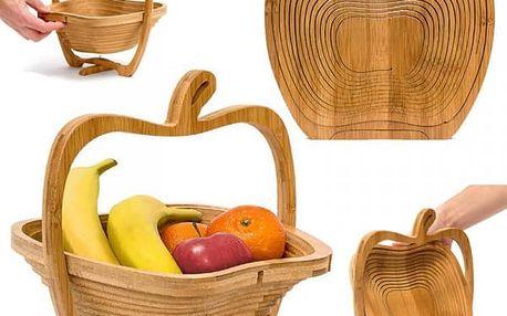 Skládací bambusový košík Jablko