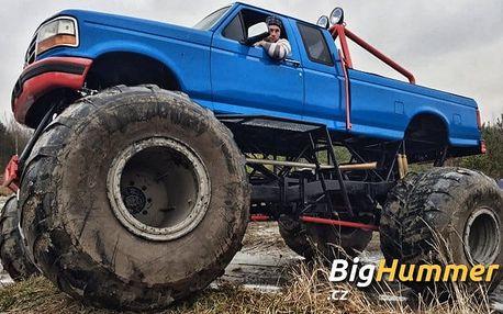 30 minut řízení Monster Trucku Ford v Milovicích ve speciálně upravené aréně
