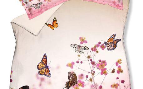 Luxusní saténové povlečení VANDYCK Butterfly garden