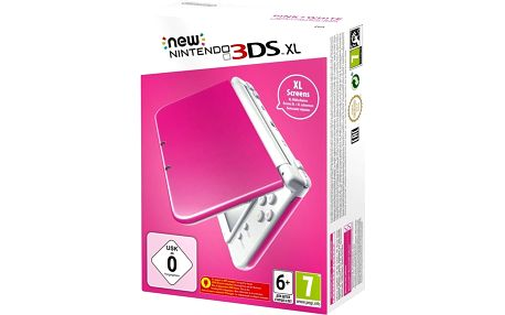 Nintendo New 3DS XL, růžová/bílá - NI3H97115