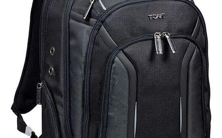 Port Designs MELBOURNE BP batoh na 15,6'' notebook a 10,1'' tablet, černá - 170400 + Zdarma PORT CONNECT - přenosný outdoorový Bluetooth reproduktor (v ceně 349,-)