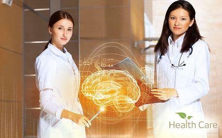 Bezbolestné biorezonanční vyšetření přístrojem Metatron ve studiu Health Care v Praze