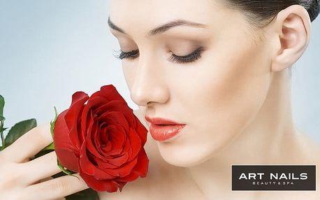 Kosmetické ošetření včetně masáže obličeje v salonu Art Nails v Praze