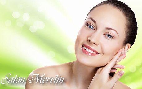 Kosmetické ošetření pleti + čokoládová masáž zad v Salonu Merelin v Praze