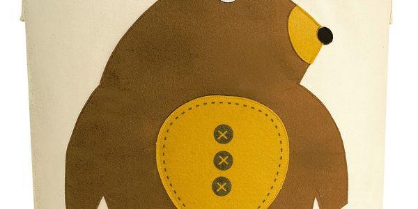 3 SPROUTS Koš na hračky Bear