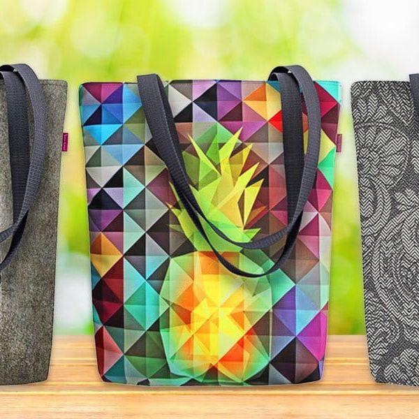 Prostorné ekologické kabelky s potiskem