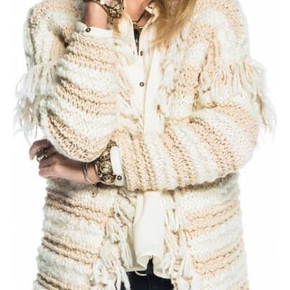 Scotch&Soda luxusní svetr Knitted Ecru