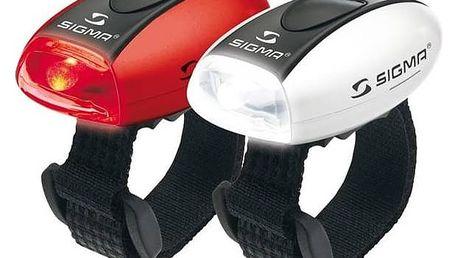 Světlo na kolo Sigma sada - zadní a přední světlo Sigma MICRO, přední(bílé) a zadní (červené) C3 bílá/červená