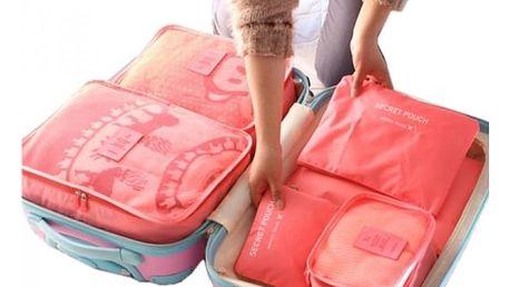 Sada cestovních taštiček - 6 barev / 6 ks
