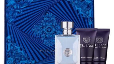 Versace Pour Homme dárková kazeta pro muže toaletní voda 50ml + sprchový gel 50 ml + šampon 50 ml