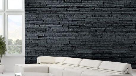1Wall fototapeta Tmavá kamenná stěna 315x232 cm