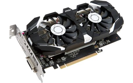 Micro-Star MSI GeForce GTX 1050 Ti 4GT OC, 4GB, DisplayPort, HDMI, Dual-link DVI-D