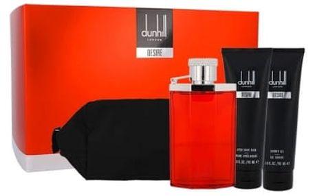 Dunhill Desire dárková kazeta pro muže toaletní voda 100 ml + sprchový gel 90 ml + balzám po holení 90 ml + kosmetická taška