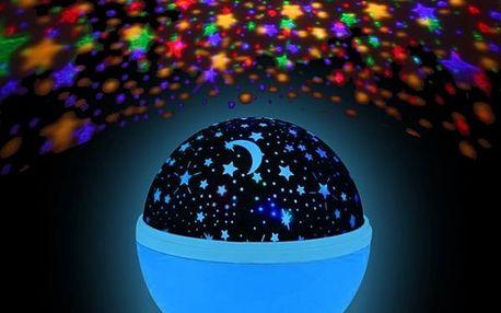 LED lampička s projekcí hvězdné oblohy - 3 barvy