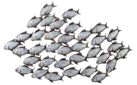 """Nástěnná dekorace """"ryby"""""""