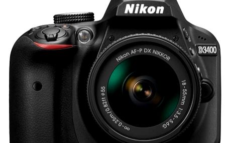 Nikon D3400 + AF-P 18-55 non VR + brašna Vanguard jako dárek