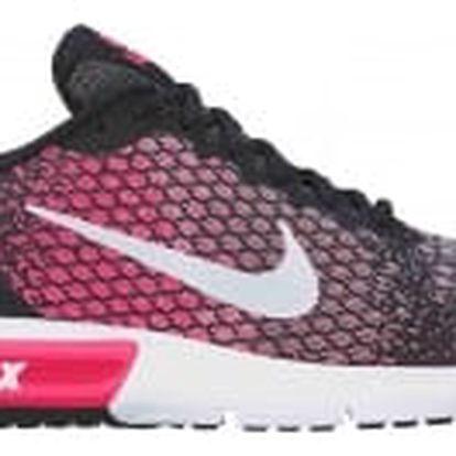 Dámské tenisky Nike WMNS AIR MAX SEQUENT 2 40 BLACK/WHITE-RACER PINK-WOLF GR