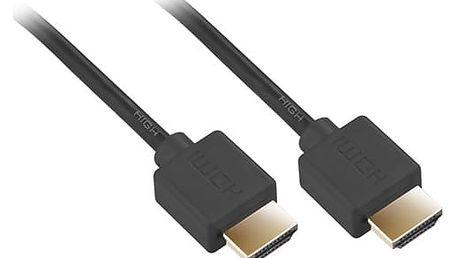 Kabel GoGEN HDMI 1.4, 5m, pozlacený, High speed, s ethernetem (GOGHDMI500MM02) černý