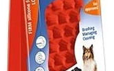 Kartáč Pet and Me pro psy s dlouhou srstí červený