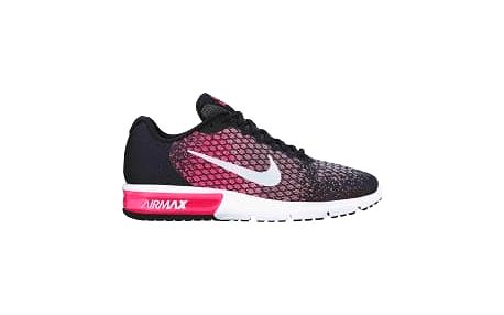 Wmns nike air max sequent 2 40,5 BLACK/WHITE-RACER PINK-WOLF GR