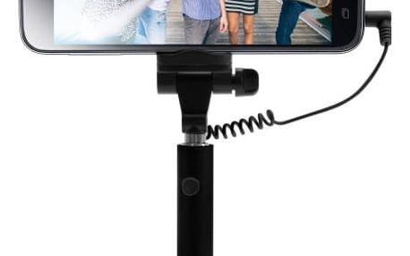 Selfie tyč FIXED Snap Mini - černá černá (FIXSS-SNM-BK)