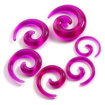 Spirálové roztahováky do uší - 12 kusů